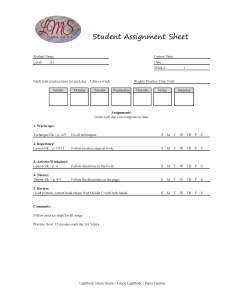 Student Assignment Sheet